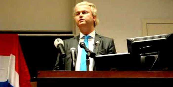 Герт Вилдерс выступает в Колумбийском университете Нью-Йорка