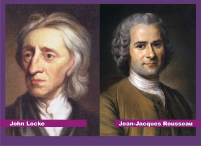 Image result for john locke jean jacques rousseau