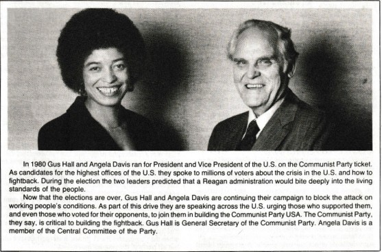 Image result for us communist party foundation gus hall angela davis